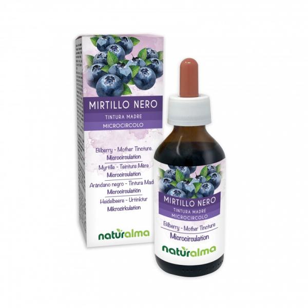 Mirtillo Nero Tintura madre 100 ml liquido analcoolico – Naturalma