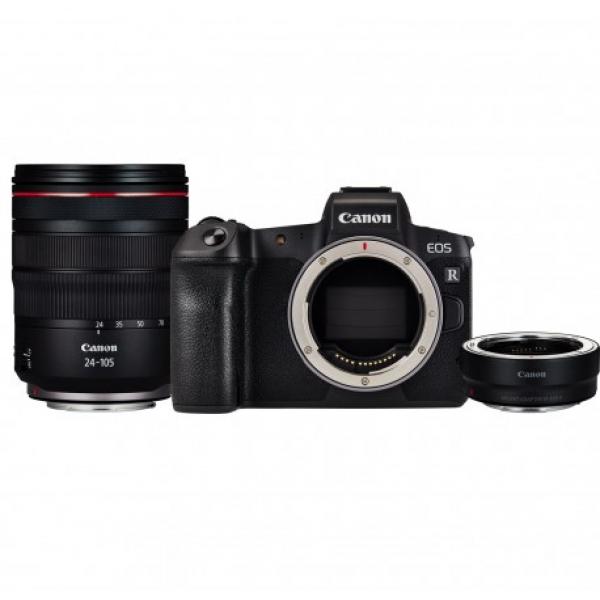 Canon EOS R Kit 24-105 f4 Full-Frame + adattatore EF-EOS R – GARANZIA CANON PASS ITALIA 4 ANNI