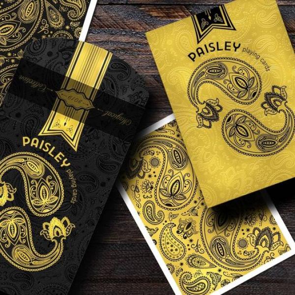 Set Paisley Gold & Black