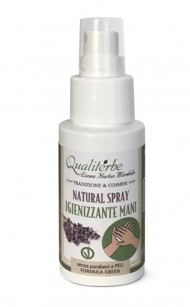 Natural Spray Igienizzante Mani 50 ml 100% naturale (Alcool Bio 60%)Vegan Ok