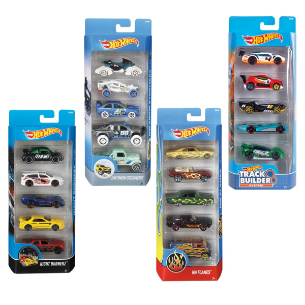 Hot Wheels auto 5 modelli