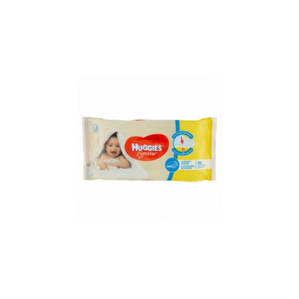 Huggies Unistar Salviette Detergenti 56 pezzi