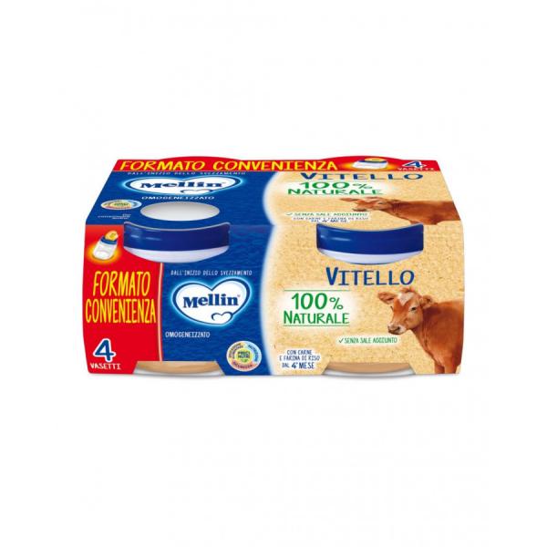 Omogeneizzato Vitello 4x80g Mellin