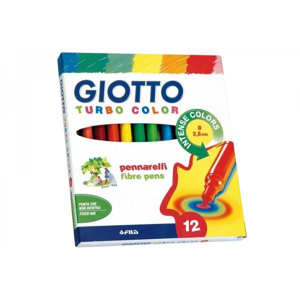 Pennarelli Giotto Turbocolor 12 pezzi