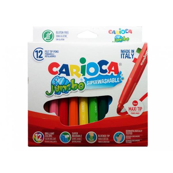Pennarelli Carioca Jumbo da 12 pezzi