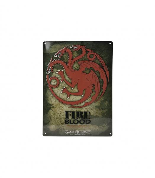 Targaryen – Il Trono di Spade – Placca (Metallo)