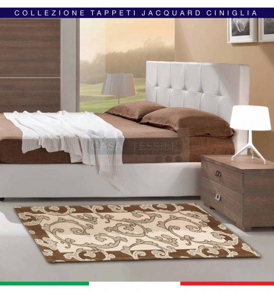 Trama & Ordito ROCOCO' tappeto multiuso cm 100×150 Jacquard ciniglia
