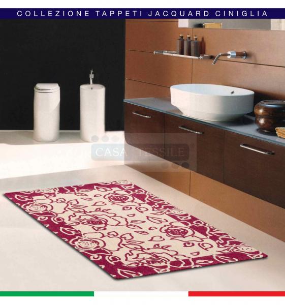 Trama & Ordito ROSE nr 2 tappeti multiuso cm 65×105 Jacquard ciniglia