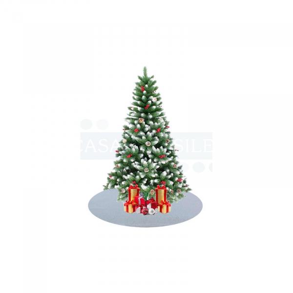 Tappeto per albero di Natale bianco rotondo