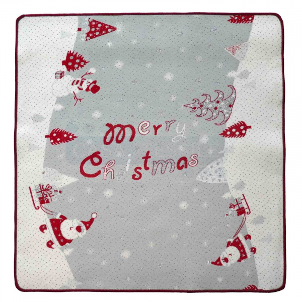 Tappeto natalizio resinato bordato SANTA CLAUS