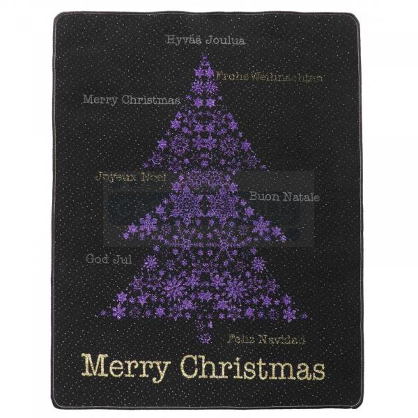 Tappeto natalizio resinato bordato MERRY CHRISTMAS TREE