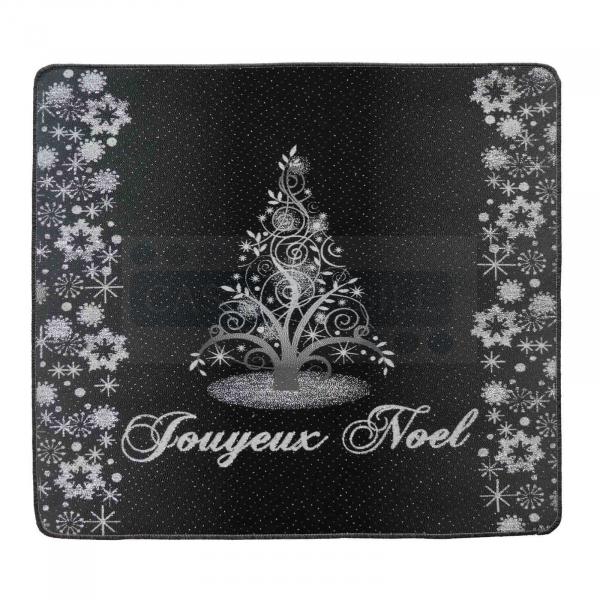 Tappeto natalizio resinato bordato NOEL