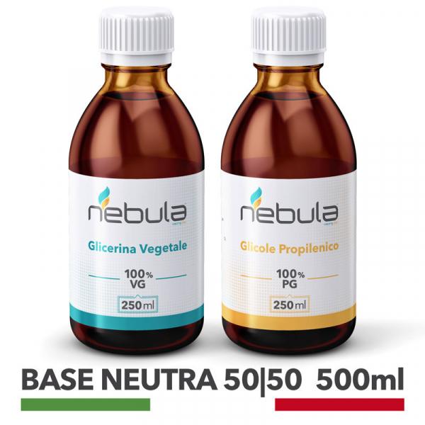 Nebula – Kit Base Neutra 500ml 50 VG / 50 PG