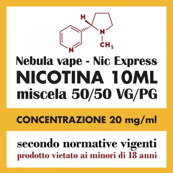 Nicotina Nebula Nic Express 20mg/ml 50/50 10ml TPD