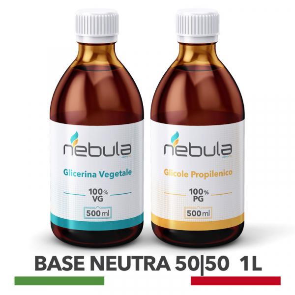 Nebula – Kit Base Neutra 1L 50 VG / 50 PG