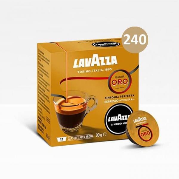 240 (20×12)  CAPSULE QUALITA' ORO – Lavazza a Modo Mio Originali