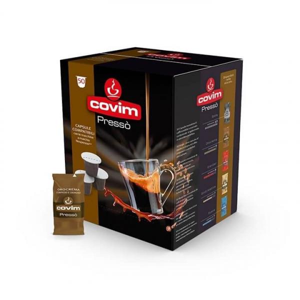 50 CAPSULE CAFFE' ESPRESSO PRESSO' OROCREMA COVIM – compatibile Nespresso