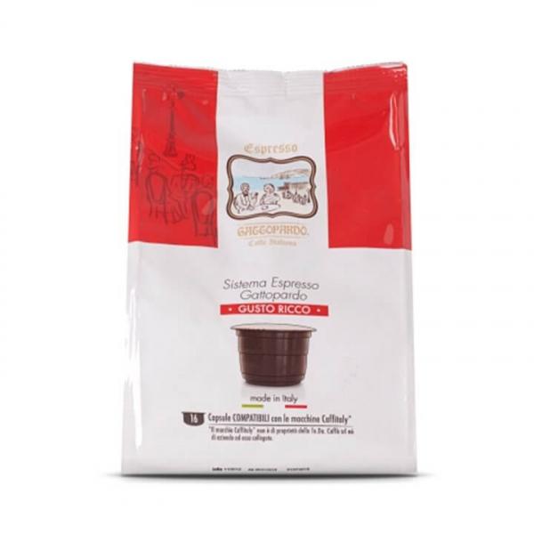 96 (6 da 16) capsule caffè Gattitaly Gusto Ricco ToDa – Compatibili Caffitaly System