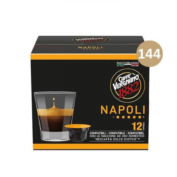 144 (12 DA 12)  CAPSULE ATLANTIS NAPOLI CAFFE' VERGNANO – compatibile Nescafè Dolce Gusto