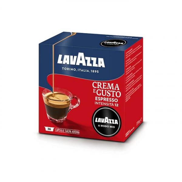36 CAPSULE CAFFE' CREMA E GUSTO – LAVAZZA A MODO MIO originali