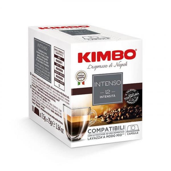 10 CAPSULE CAFFE' ESPRESSO INTENSO KIMBO – compatibili Lavazza a Modo Mio