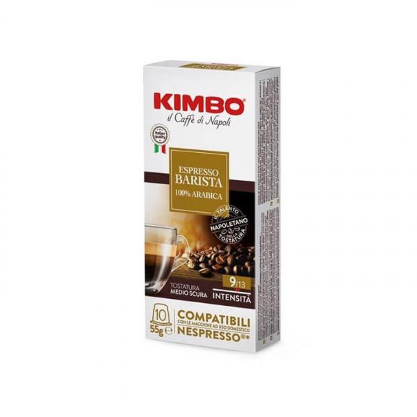 10 capsule CAFFE' ESPRESSO BARISTA 100% ARABICA KIMBO (EX ARMONIA) – compatibili Nespresso