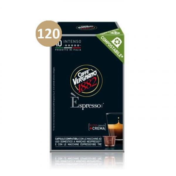 120 (12 da 10) CAPSULE Èspresso1882 Intenso VERGNANO – COMPOSTABILE – compatibile Nespresso