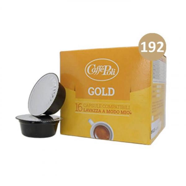 192 (12 da 16) CAPSULE GOLD CAFFE' POLI – compatibile Lavazza a Modo Mio