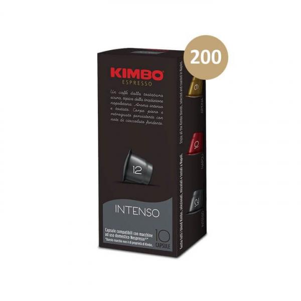 200 (20 da 10) capsule CAFFE' ESPRESSO INTENSO KIMBO compatibili Nespresso
