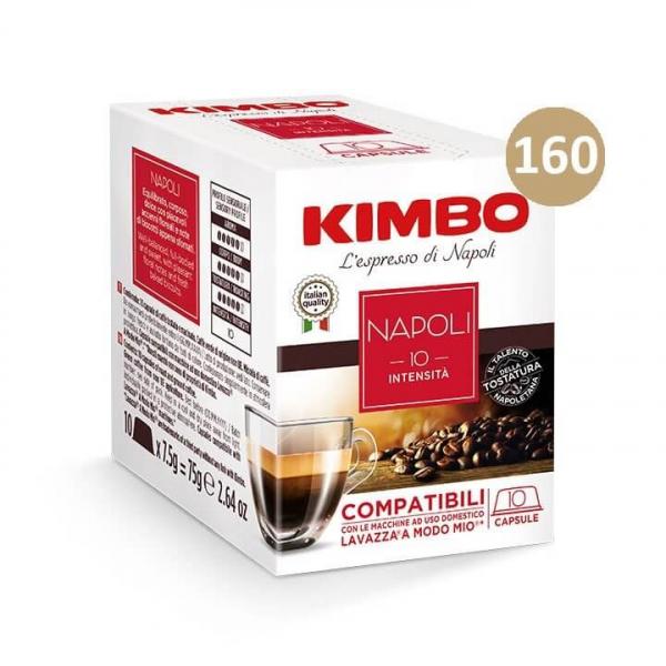 160 (16 da 10) CAPSULE CAFFE' ESPRESSO NAPOLI KIMBO – compatibile Lavazza a Modo Mio