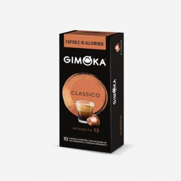 10 capsule in alluminio caffè Classico Gimoka – compatibili Nespresso