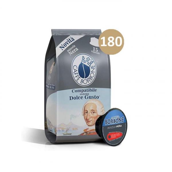 180 (90×2) CAPSULE CAFFE' BORBONE DOLCE GUSTO NERA – compatibile Nescafè Dolce Gusto