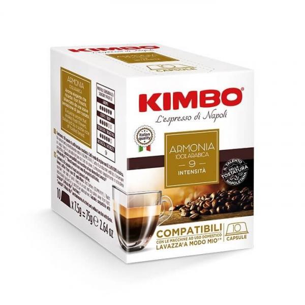 10 CAPSULE CAFFE' ESPRESSO ARMONIA KIMBO – compatibili Lavazza a Modo Mio