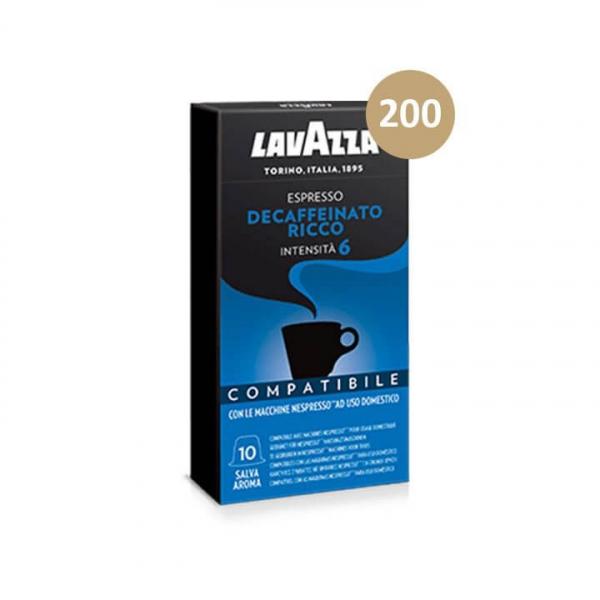 200 capsule Caffè Espresso DECAFFEINATO LAVAZZA – compatibile Nespresso