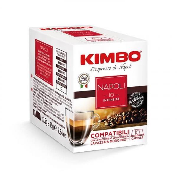 10 CAPSULE CAFFE' ESPRESSO NAPOLI KIMBO – compatibili Lavazza a Modo Mio