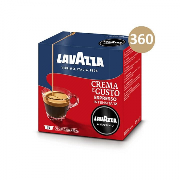 360 (10×36) CAPSULE CAFFE' CREMA E GUSTO – LAVAZZA A MODO MIO originali