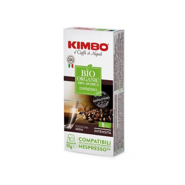 10 capsule CAFFE' ESPRESSO BIO KIMBO – compatibili Nespresso