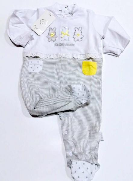 Tutina neonato in jersey di cotone pastello tj11m