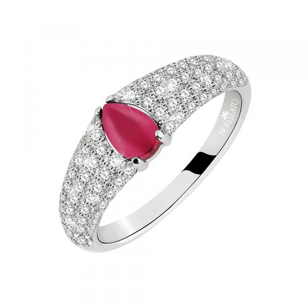Anello Morellato Tesori arg.925 silver / rosso