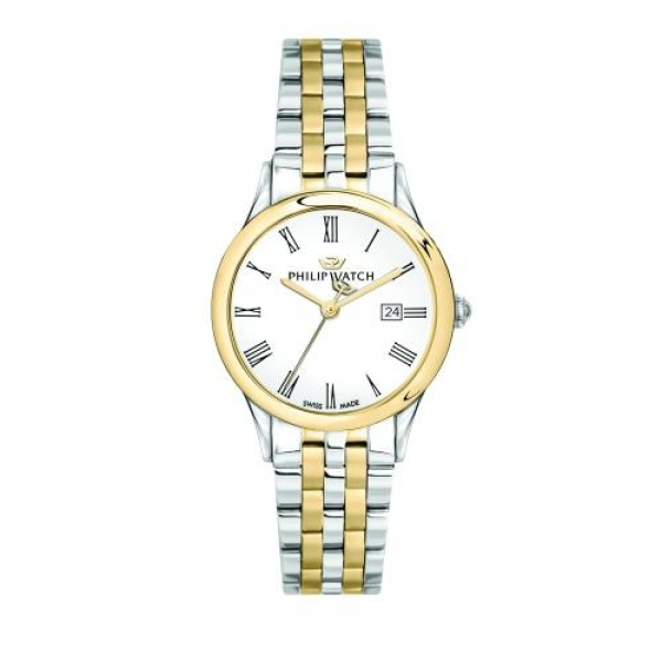 Philip Watch Marylin 31mm 3h white dial ss+yg br