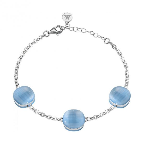 Bracciale Morellato Gemma argento / azzurro – 16/19 cm