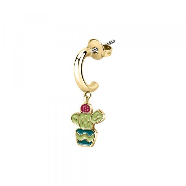 La Petite Story Hoop earring yg cactus