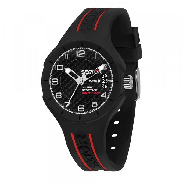 Sector Speed 3h 37mm blk dial blk st
