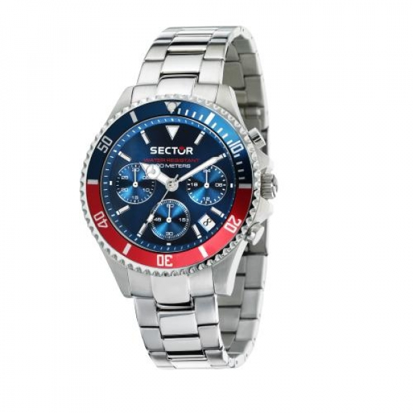 Sector 230 43mm chr blue dial br ss