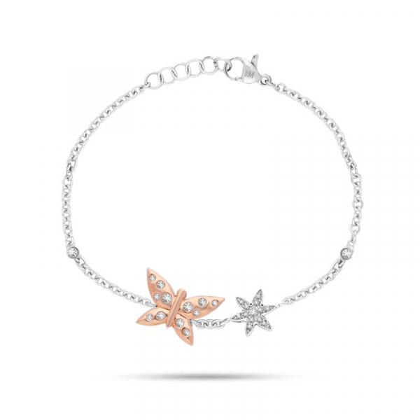 Bracciale Morellato Natura farfalle – 16/19 cm