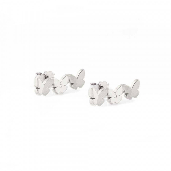 Orecchini Jack e Co farfalle silver – 17 mm
