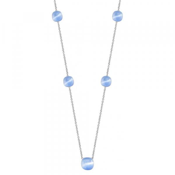 Collana Morellato Gemma argento / azzurro – 70/75 cm