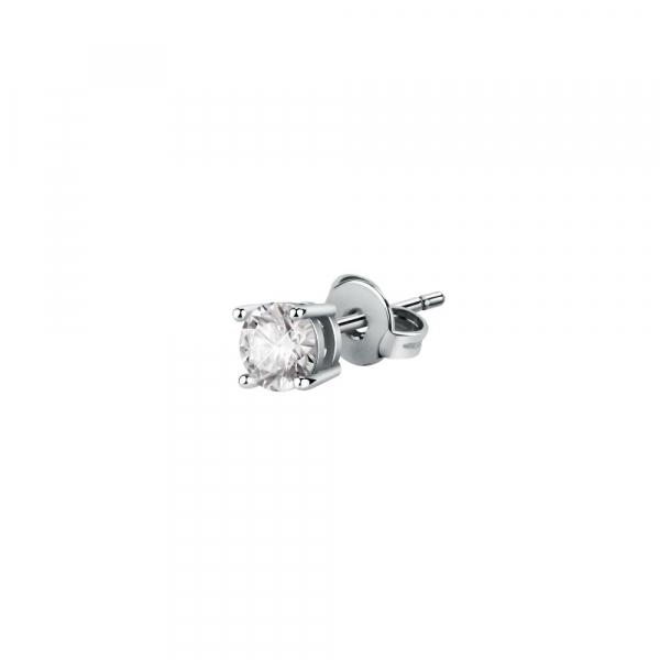 La Petite Story Exigo stud earring ss white round cz 4mm