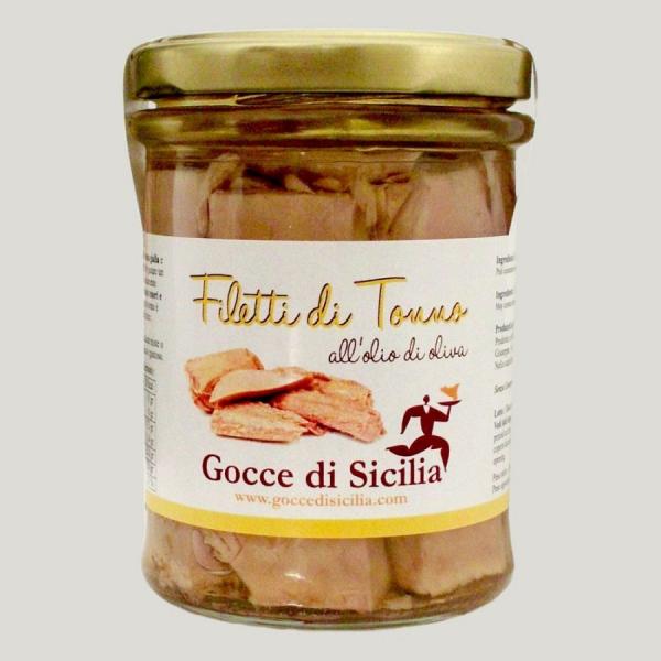Filetti di Tonno all'Olio d'Oliva 200 gr