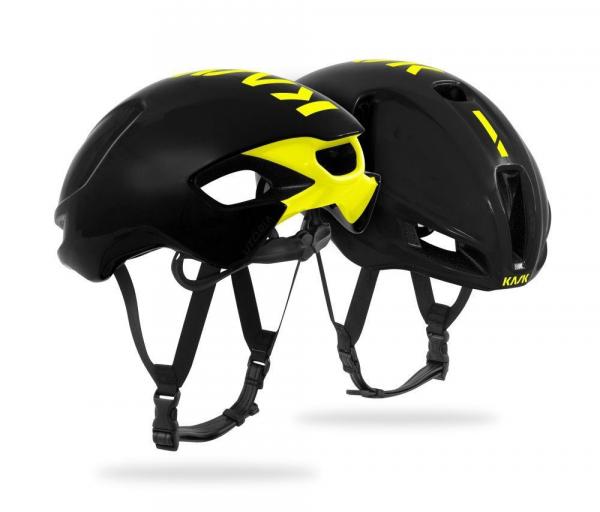 casco kask utopia black yellow fluo
